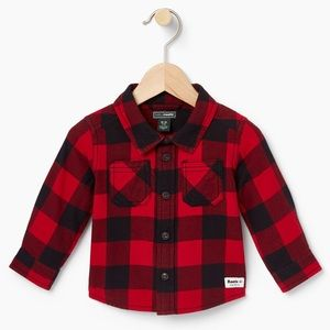 Baby Roots - Baby Park Plaid Shirt
